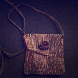 Handbags - 3/$20 Antique Metallic Rose Crossbody Evening Bag